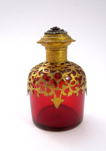 Palais Royal Ruby Red Scent Bottle