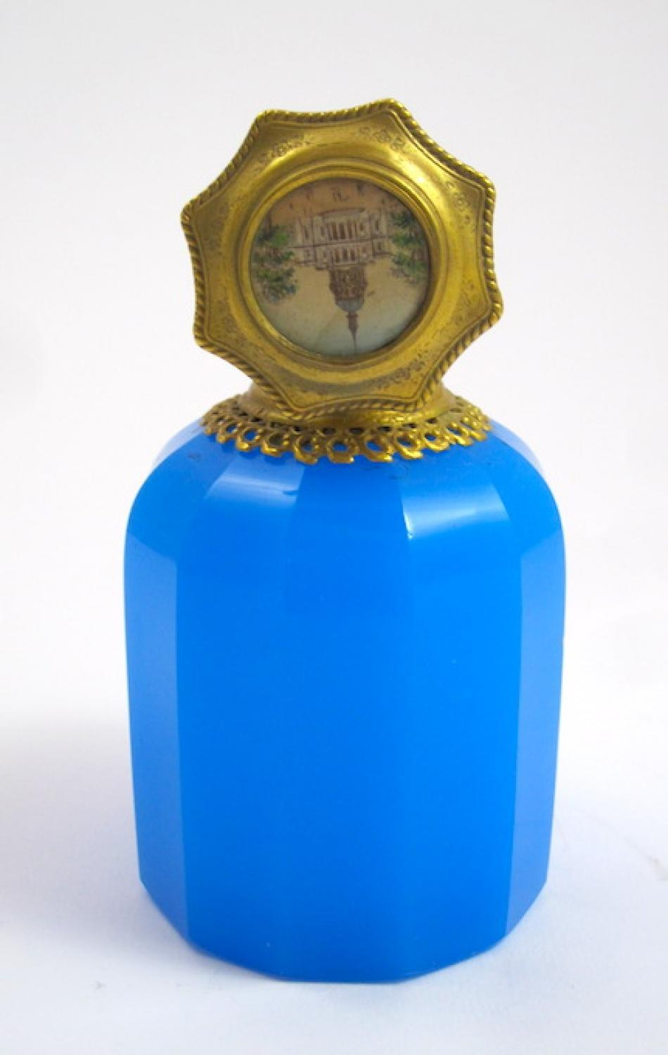 Palais Royal Blue Opaline Glass Scent Bottle