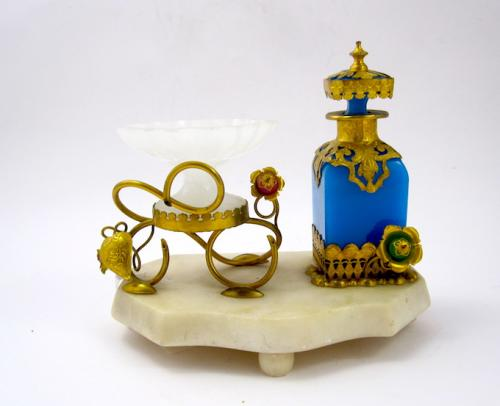 Palais Royal Opaline Glass Perfume Set