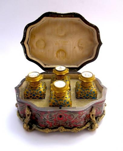 Rare Palais Royal Tortoiseshell Boulle Casket