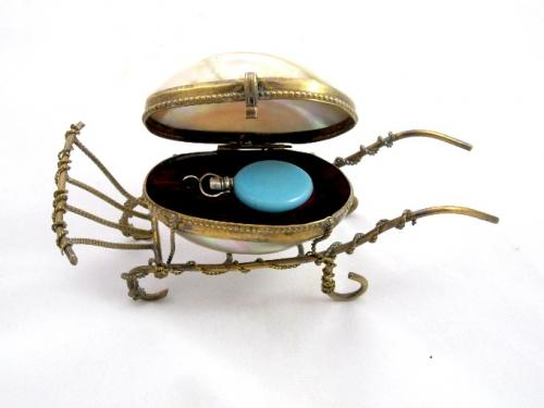 French Mother of Pearl & Opaline Perfume Set