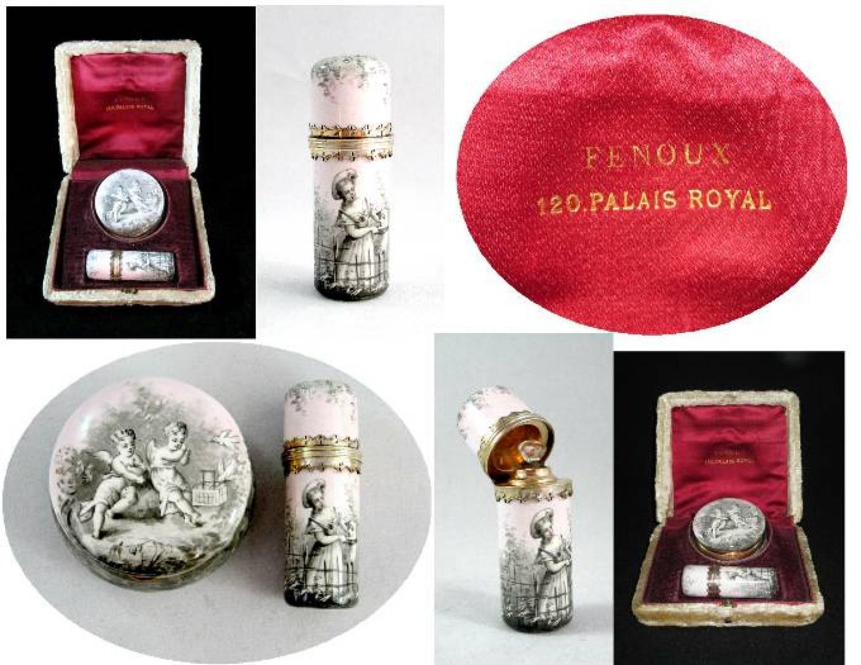 Palais Royal Perfume Bottle & Pill Box