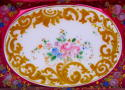 Antique Bohemian Overlay Glass Casket - picture 5