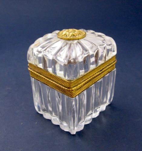 High Quality Antique Miniature Crystal Casket