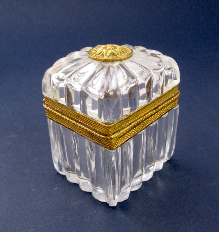 High Quality Antique Miniature Crystal Casket