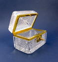 Antique French Cut Crystal Glass casket - picture 2