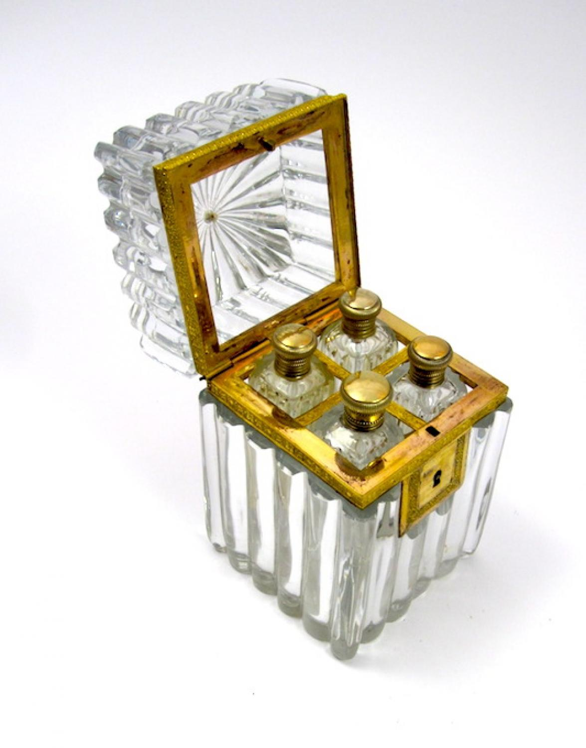 Early High Quality Baccarat Perfume Casket