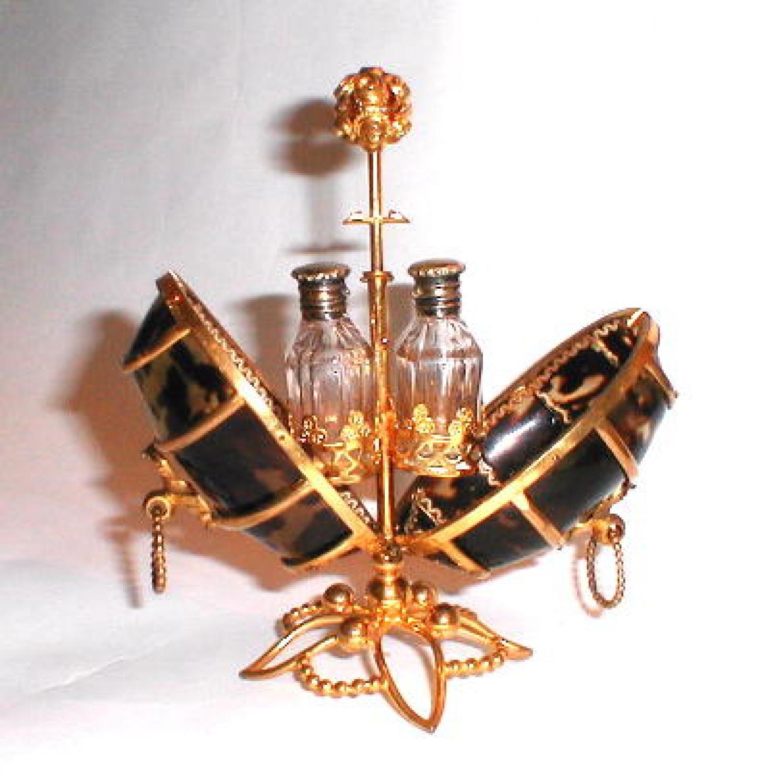 A French Tortoiseshell Perfume Set.