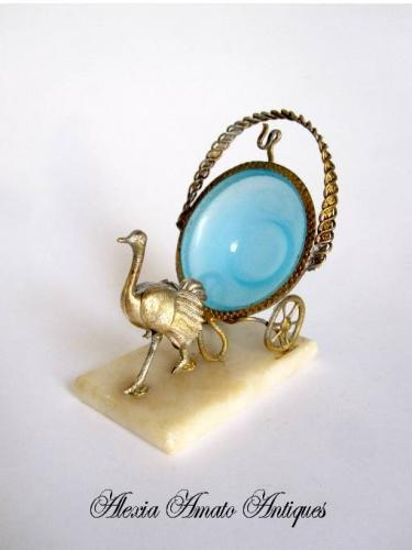 Unusual French Opaline Watch Holder