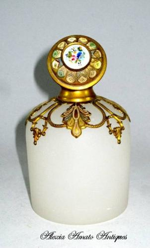Palais Royal White Opaline Glass Scent Bottle