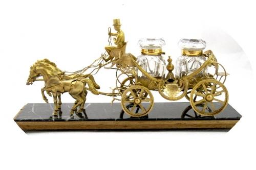 Fabulous Large French Carriage Inkwell