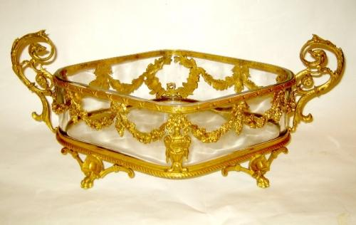 A French 19th Century Dore Bronze Jardiniere.