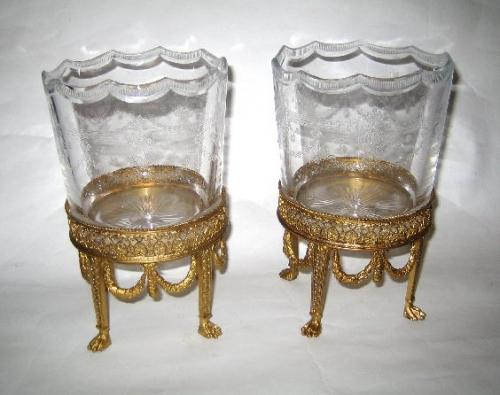 Pair of BACCARAT Crystal Vases, 19th Century.