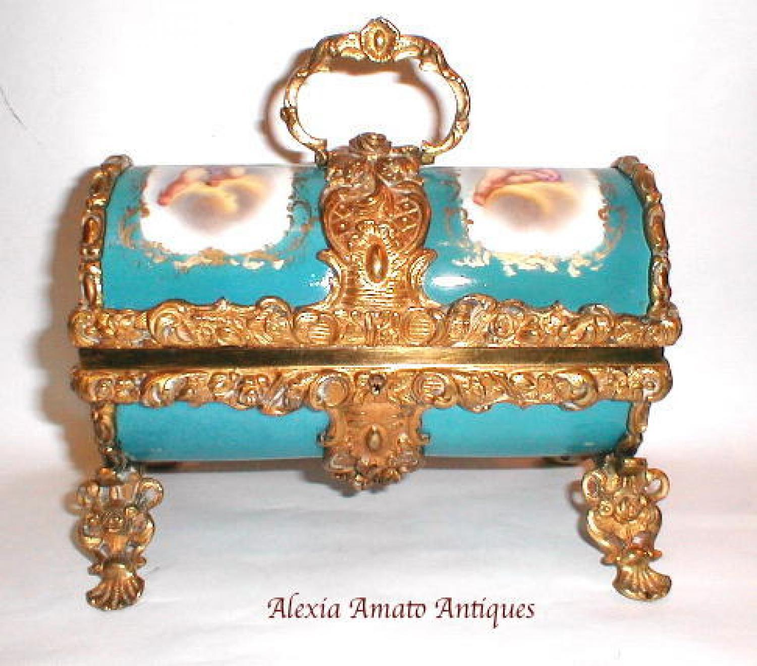 Antique French Sevres Porcelain Casket