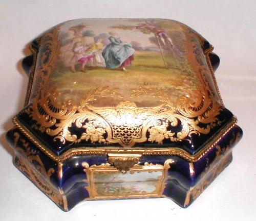 Large Sevres Porcelain 19th Century Casket.