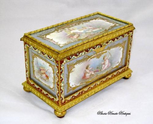 A Large French 19th Century `Sevres` Casket