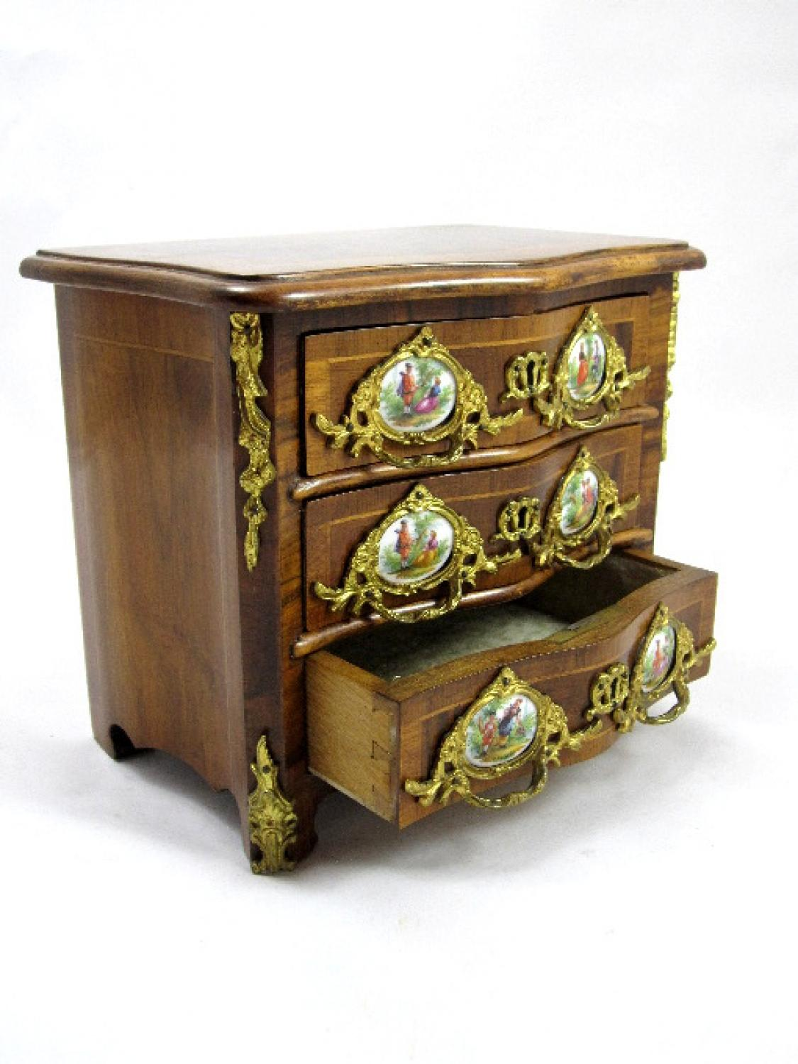 Rare Antique Miniature Chest of Drawers