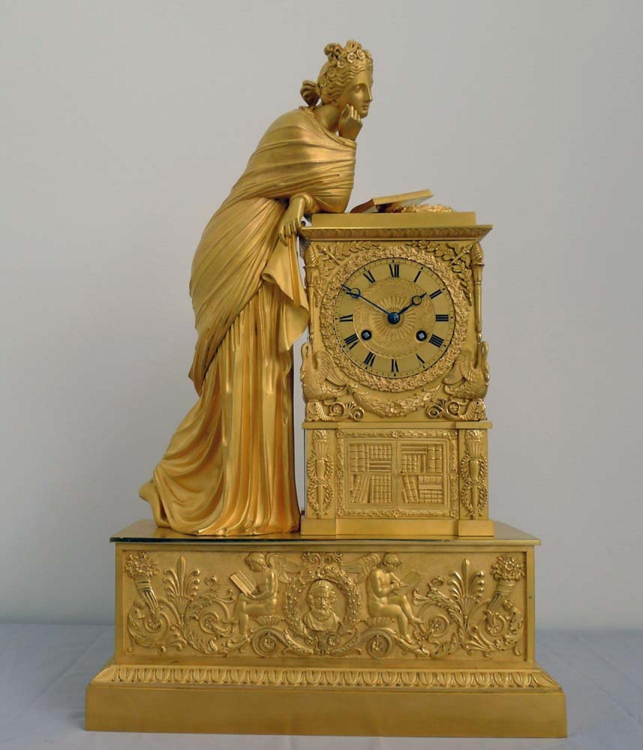 Antique French Charles X Mantel Clock