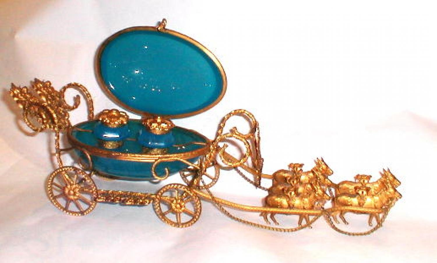 Antique Opaline Glass Carriage
