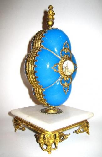 French Opaline Glass Sewing Box