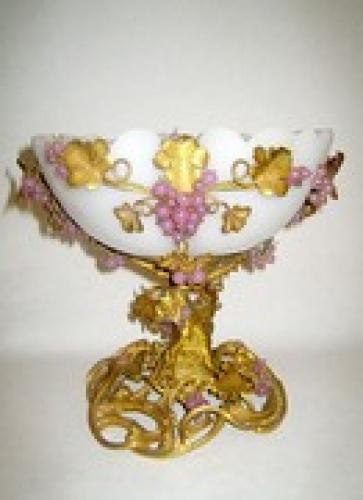 Exquisite French Opaline Glass Bowl