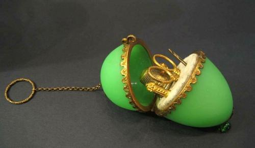 Antique French Opaline Glass Etui