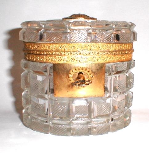 Circa 1820 Cut Crystal French Casket