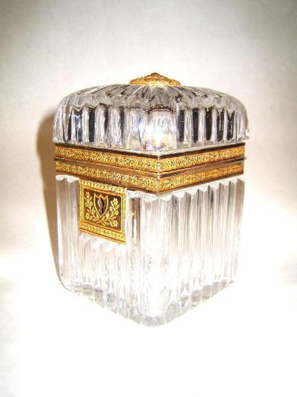 Charles X Cut Crystal Casket
