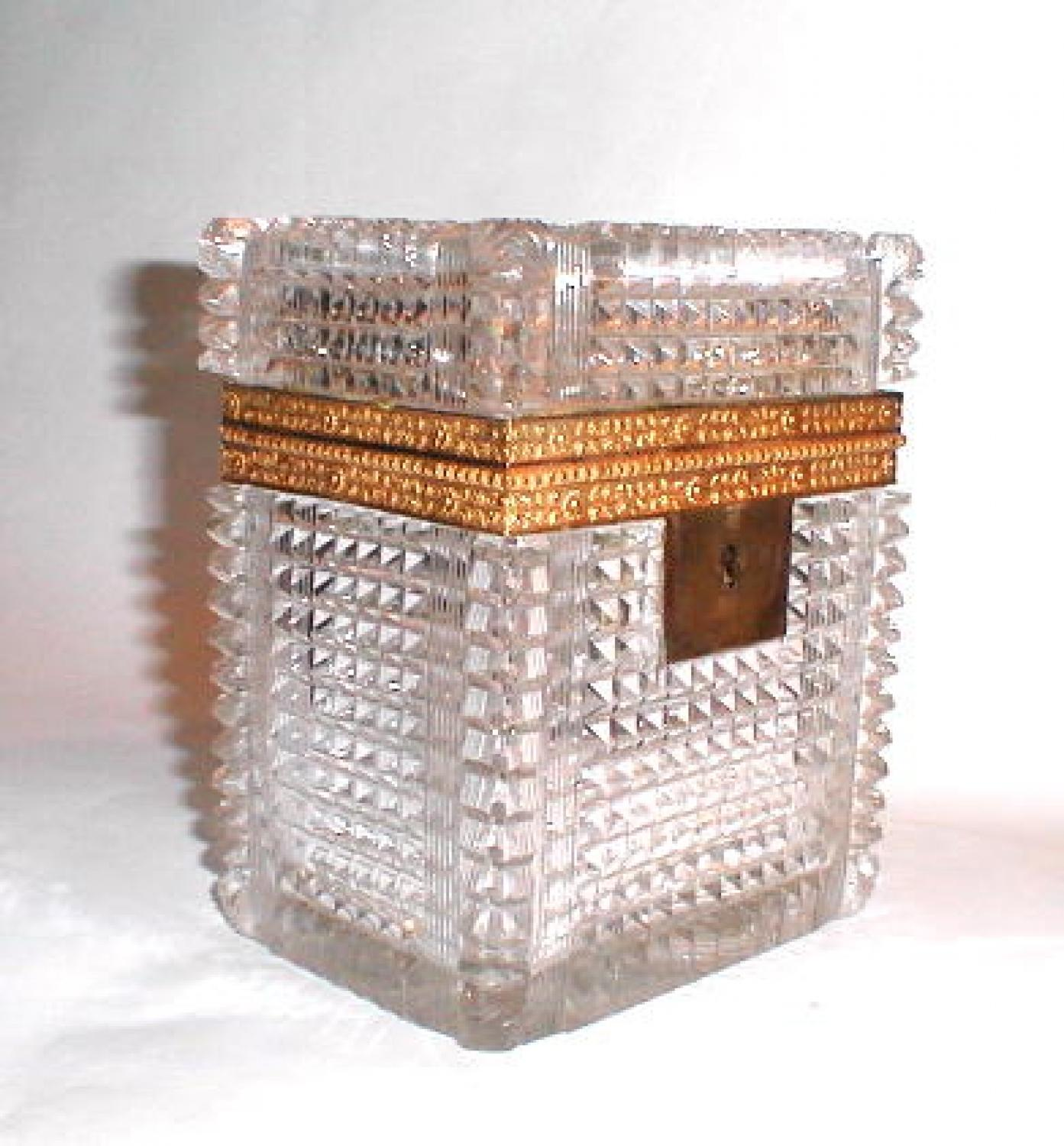 French Cut Crystal Glass Box