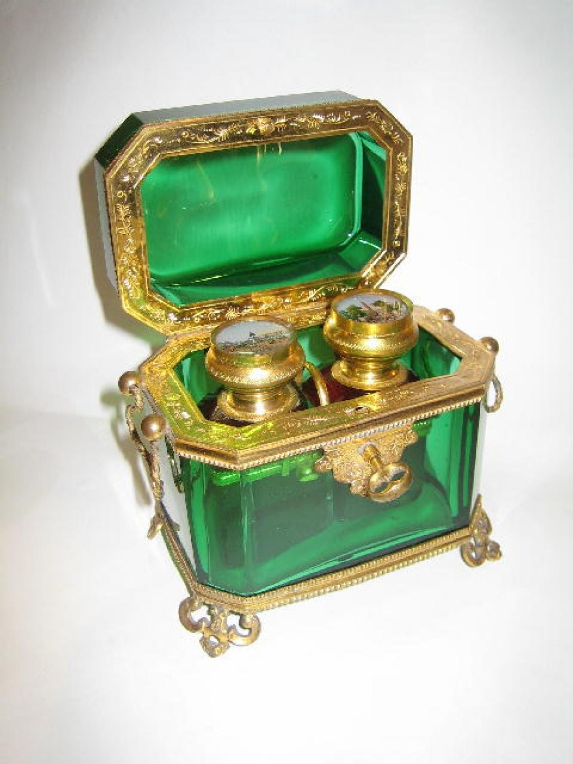 Antique French Glass Perfume Casket