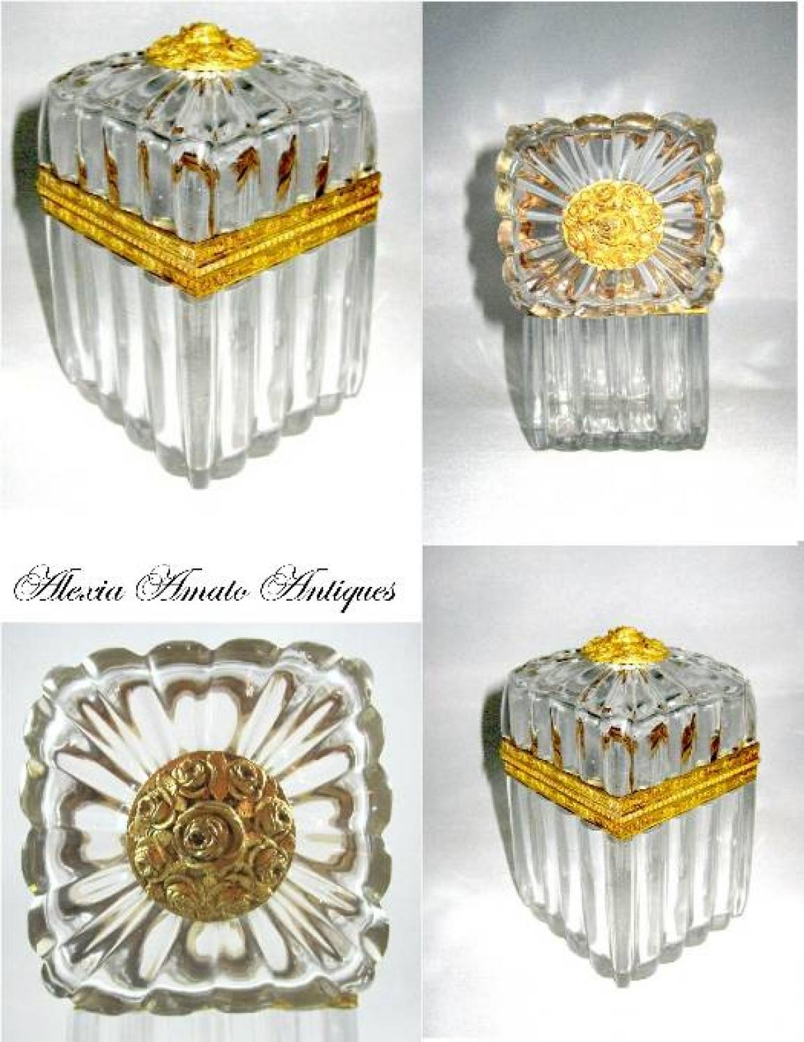 Charles X Cut Crystal Glass Casket