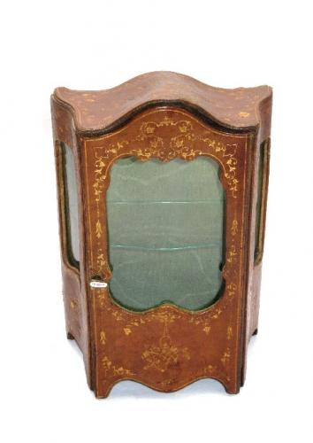 French 19th Century Miniature Leather Cabinet