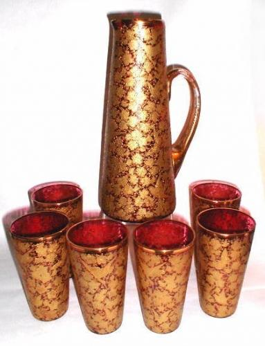 A Stunning MOSER Bohemian Glass Drinking Set