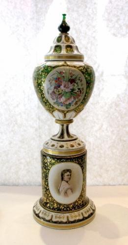 Antique Bohemian  Glass Centrepiece