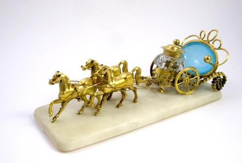 Palais Royal Opaline Inkwell Carriage