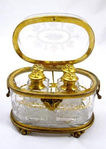 Antique Baccarat Scent Casket
