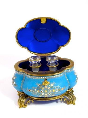 Antique French Enamelled Scent Casket