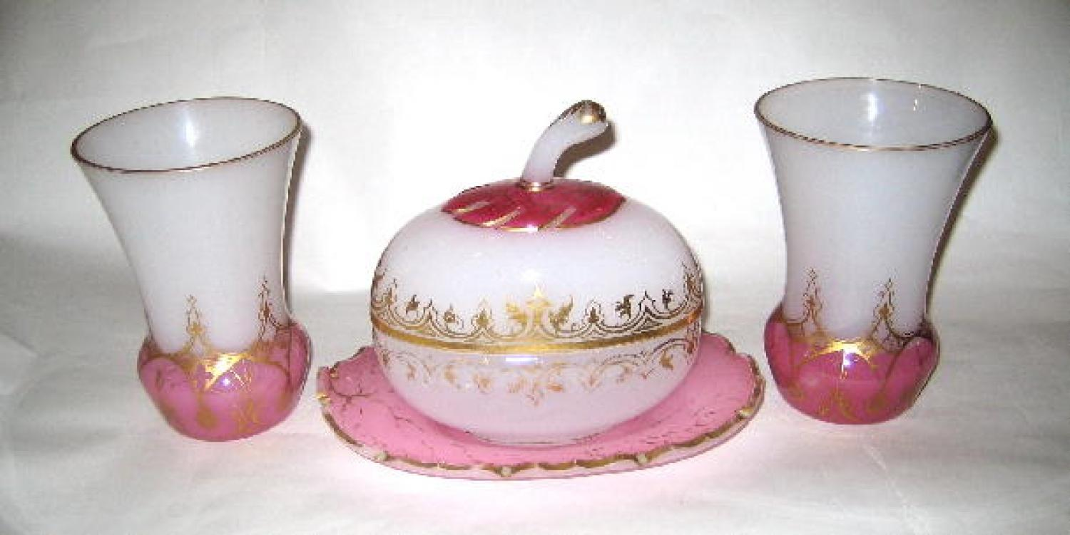 Antique Opaline Glass Set