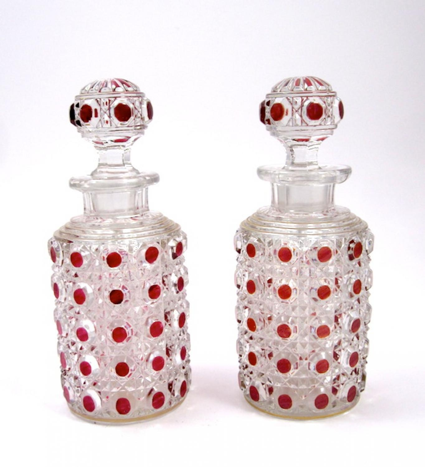 Antique Pair of Baccarat Scent Bottles