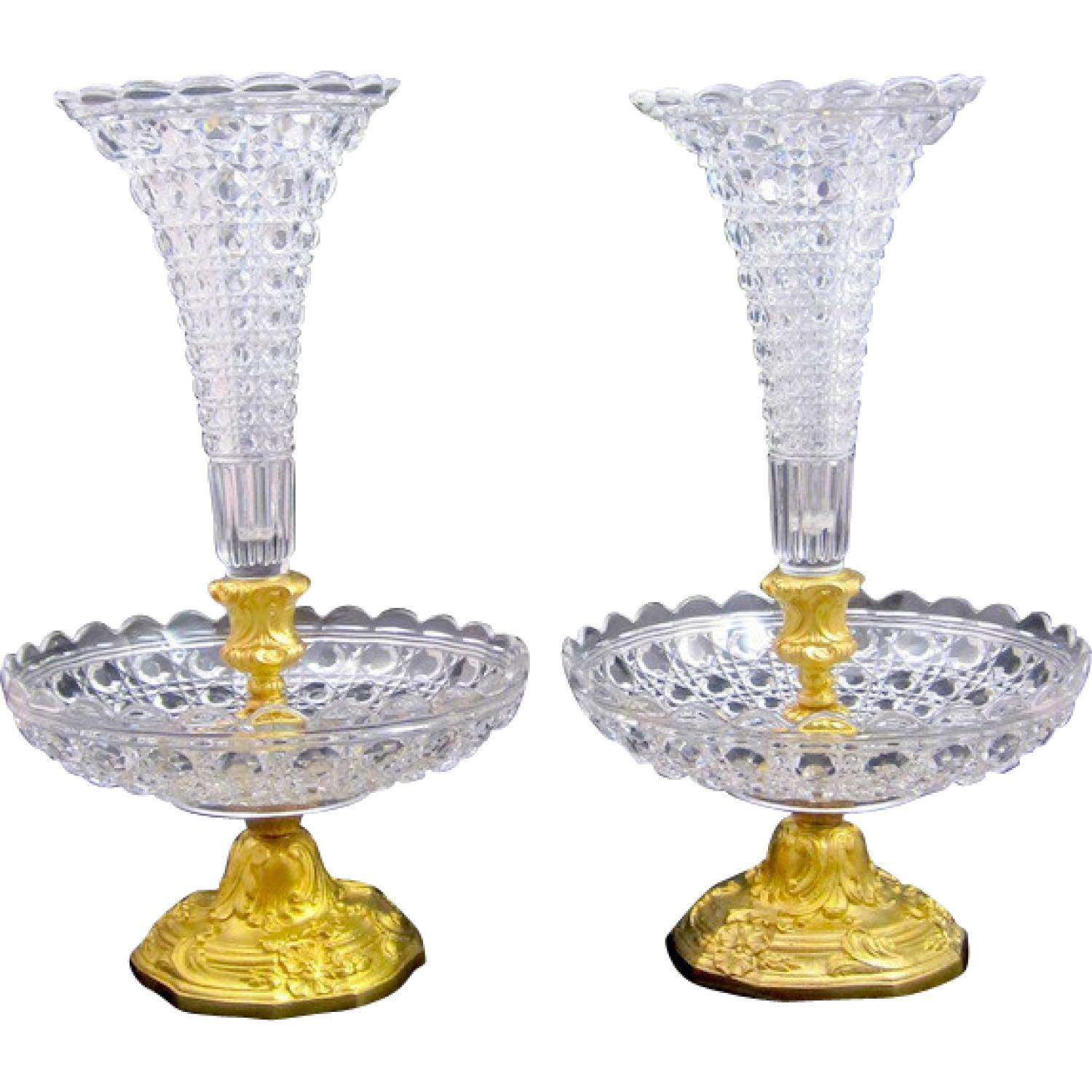 Antique Baccarat Glass Vases