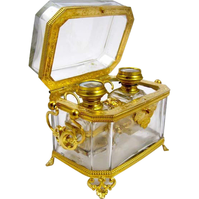 Fabulous Antique Palais Royal Perfume Casket
