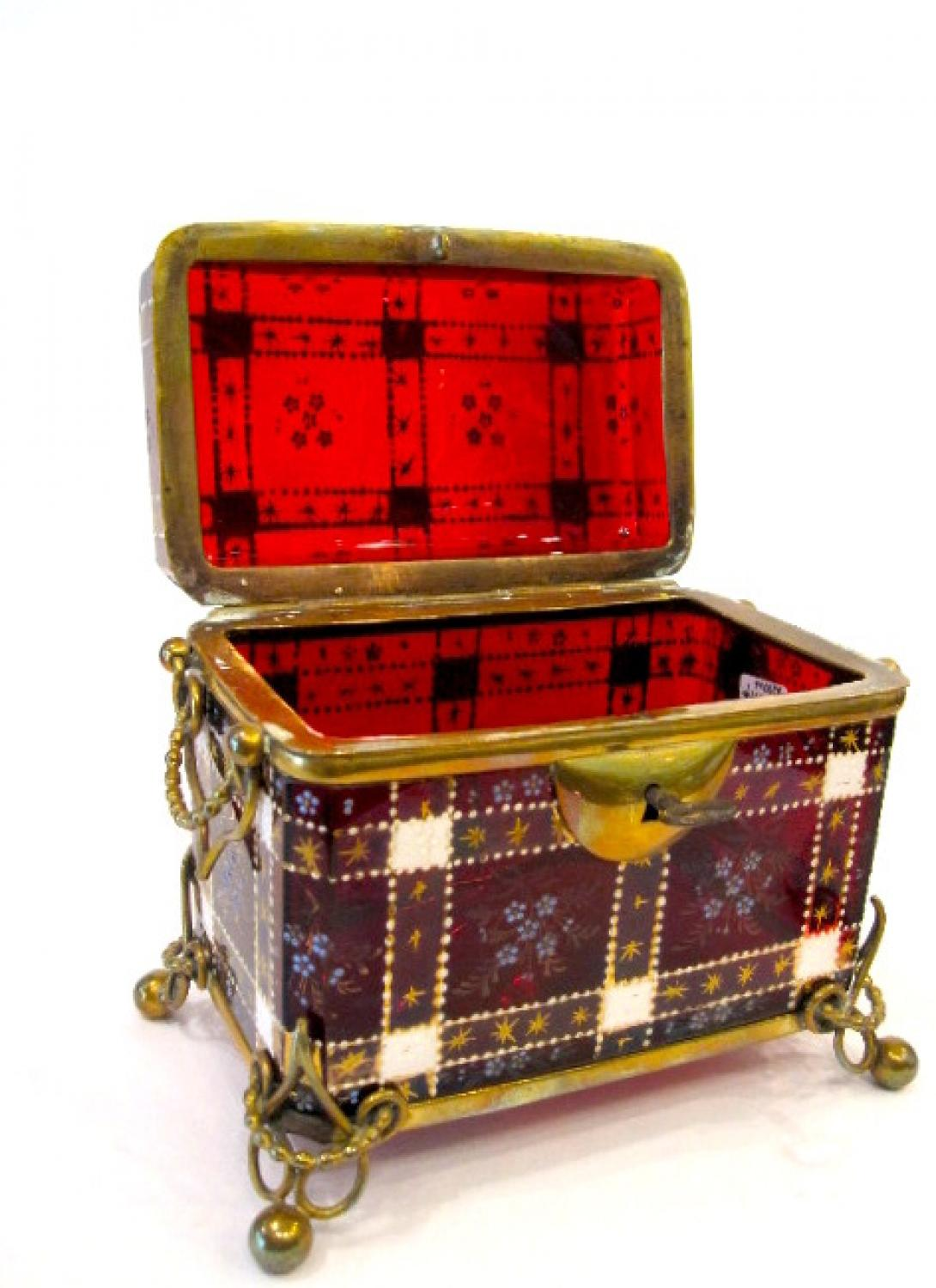 Stunning MOSER  Rich Ruby Red Casket Box