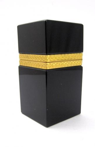 Antique French Black Opaline Glass Casket