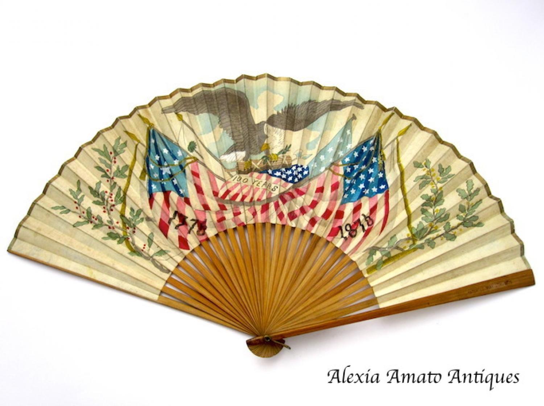 Antique Paper Souvenir Fan