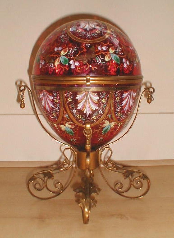 LARGE Antique Moser Casket Box