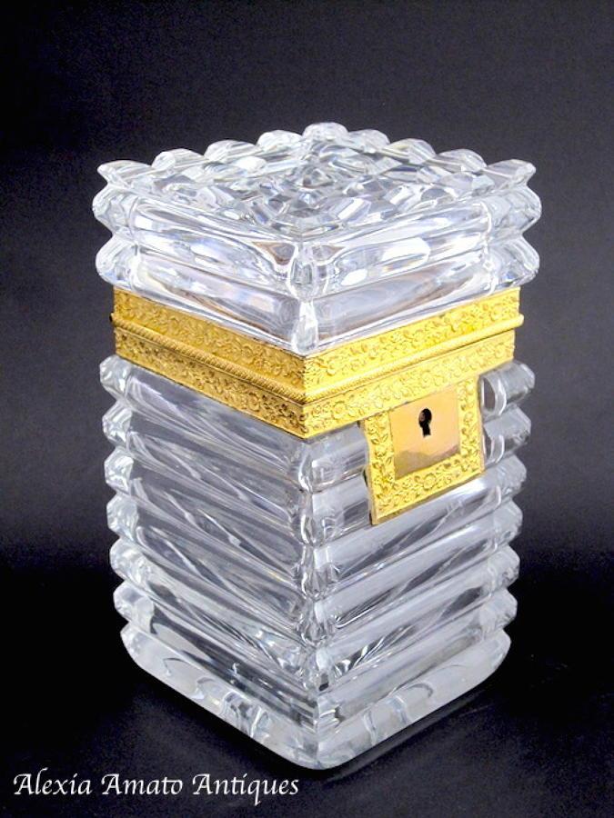 Charles X Cut Crystal Casket Box