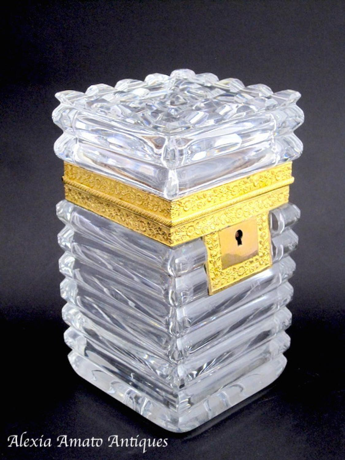 Charles X Cut Crystal Casket Box