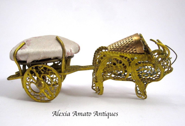 Unusual Pin Cushion & Thimble Holder