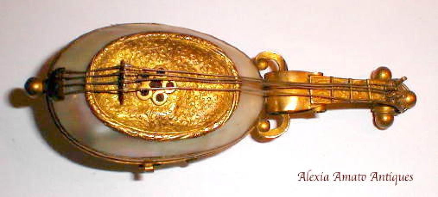 Palais Royal MOP Mandolin Sewing Box