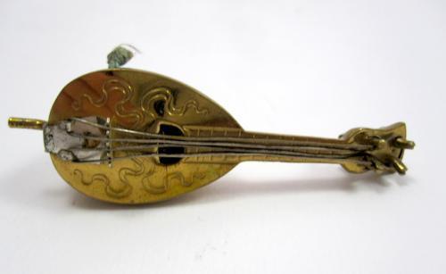 Antique Mandolin Tape Measure / Sewing Item
